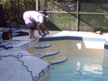 Pool - Bullnose tiles for pools
